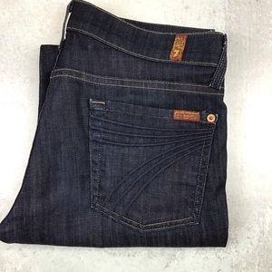 7 For All Mankind Crop Dojo Jeans 28 Dark Wash